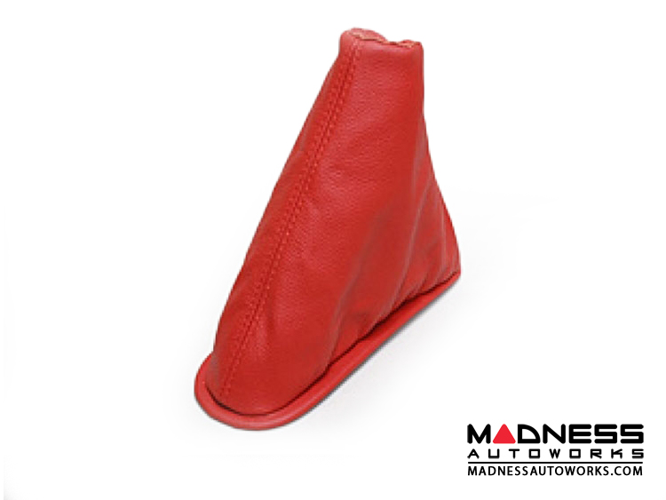 FIAT 500 eBrake Boot - Red Leather w/ Red Stitching