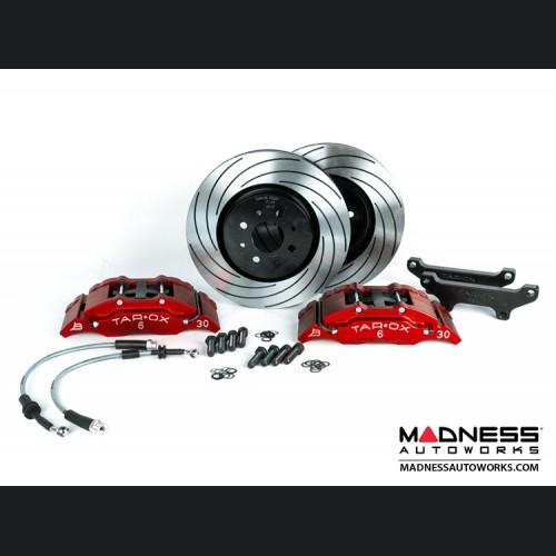 FIAT 500 Brake Upgrade Kit - Tarox 6 Pot Brake Conversion Kit - Red - Sport Series