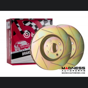 FIAT 500 Brake Rotors by Brembo - Slotted - Front Set