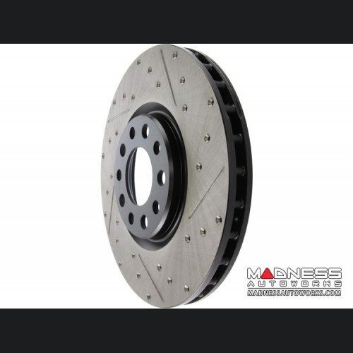 FIAT 500X Performance Brake Rotor - Drilled and Slotted - Front Left