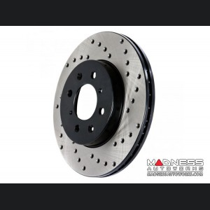 FIAT 500X Performance Brake Rotor - Drilled and Vented - Front Right