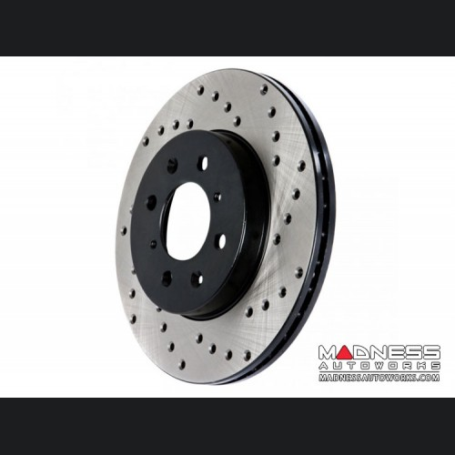 FIAT 500X Performance Brake Rotor - Drilled and Vented - Front Left