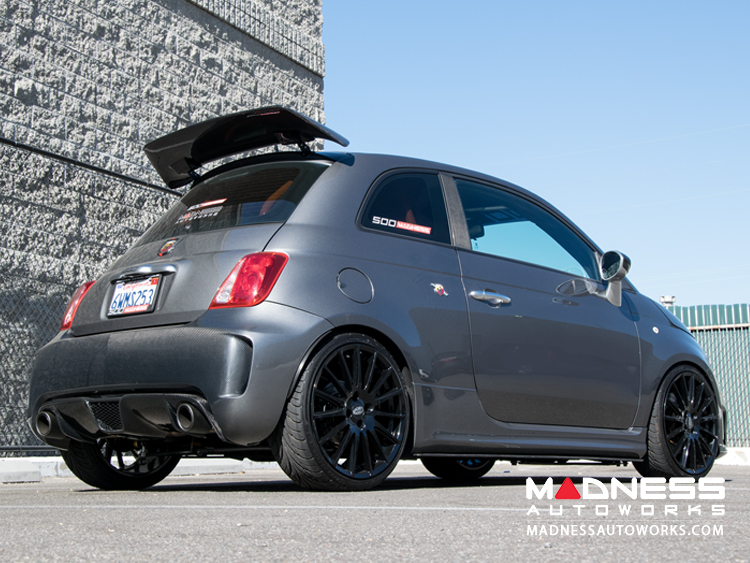 fiat 500 abarth performance exhaust by madness dual tip. Black Bedroom Furniture Sets. Home Design Ideas
