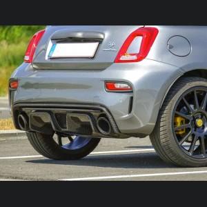FIAT 500 Rear Diffuser - Carbon Fiber -Dual Exit - 595 Style - EU Model - Matte