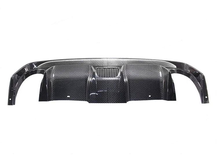 FIAT 500 Rear Diffuser - Carbon Fiber -Dual Exit - 595 Style - EU Model - White Combo