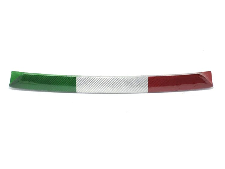 FIAT 500 Front Splitter Lip - Carbon Fiber - 595 Style - EU Model - Italian Flag