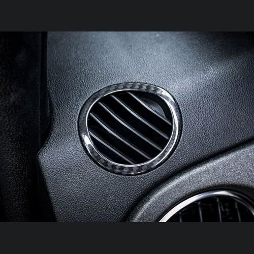 FIAT 500 Center Console Air Vent Cover - Carbon Fiber - European Model
