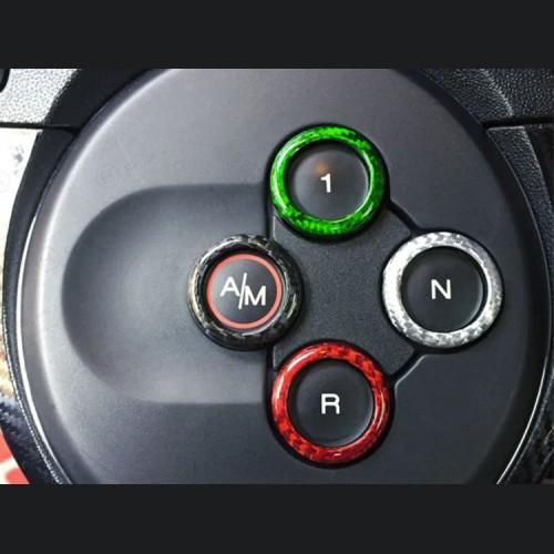 FIAT 500 Gear Panel Selector Trim in Carbon Fiber - Italian Flag