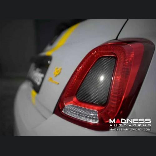 FIAT 500 Central Tail Light Trim Kit - Carbon Fiber