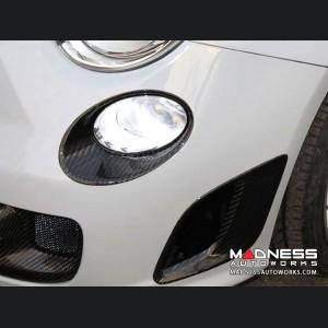 FIAT 500 Driving Lights Surround Trim Kit - Carbon Fiber