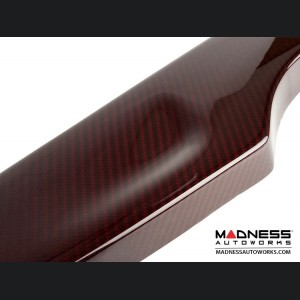 FIAT 500 Rear Diffuser - Carbon Fiber - Dual Exit - Estremo - Custom Red Candy
