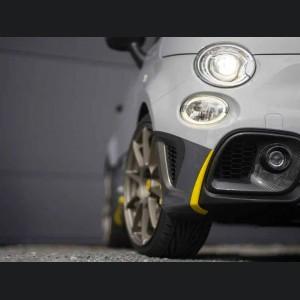 FIAT 500 Front Fog Light Trim - Carbon Fiber - 595 EU Model - With Light Hole - Matte