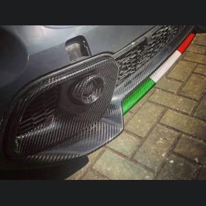 FIAT 500 Front Fog Light Trim - Carbon Fiber - 595 EU Model - No Light Hole