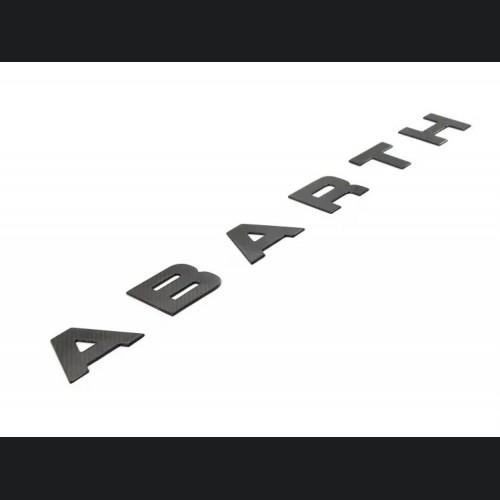 FIAT 500 Front Letters - Carbon Fiber - 595 EU Model - 2016+