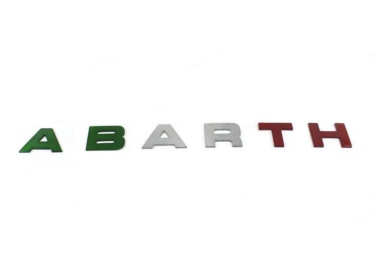 FIAT 500 Front Letters - Carbon Fiber - 595 EU Model - 2016+ - Italian Style