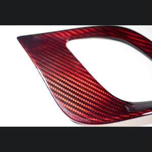 FIAT 500 Front Side Air Duct Diffuser Set - Carbon Fiber - Red Candy