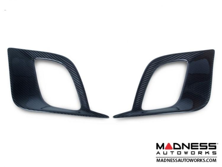 FIAT 500 Front Side Air Duct Diffuser Set - Carbon Fiber - NA Model