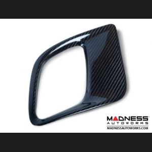 FIAT 500 ABARTH Front Side Air Duct Diffuser Set - Carbon Fiber - European Model