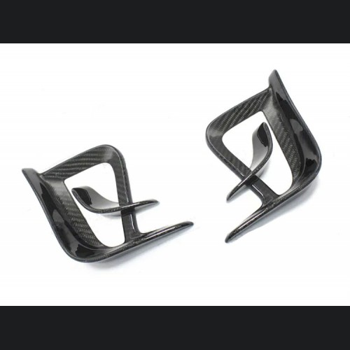 FIAT 500 Front Side Air Duct Diffuser Set - Carbon Fiber - 595 EU Model - Extremo