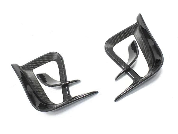 FIAT 500 Front Side Air Duct Diffuser Set - Carbon Fiber - 595 EU Model - Estremo