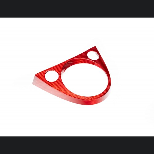 FIAT 500 Shift Gate Panel - Carbon Fiber - Red - North American Model