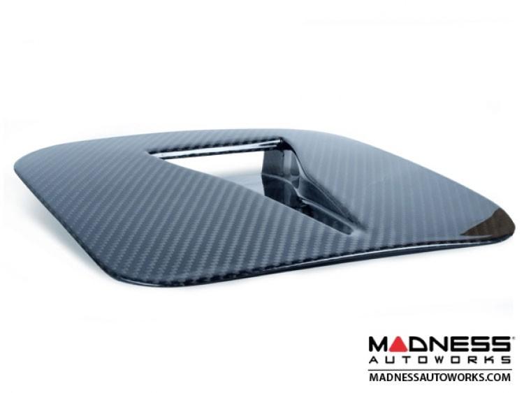 FIAT 500 Hood Scoop - ABARTH AC Style Air Intake - Carbon Fiber