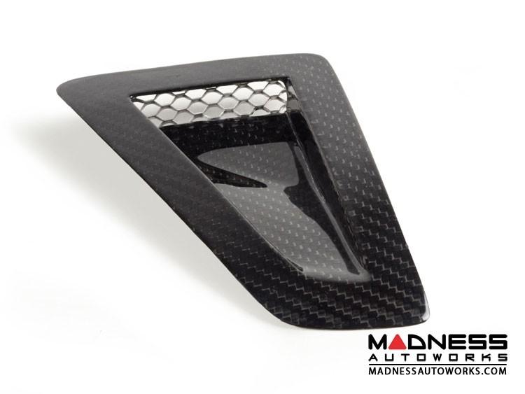 FIAT 500 NACA Hood Scoop - Carbon Fiber