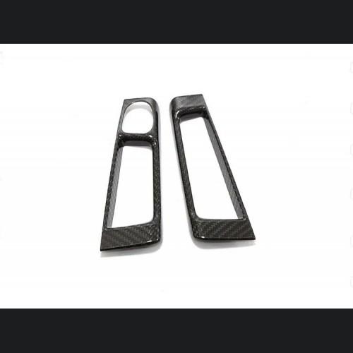 FIAT 500 Interior Door Handle Cover - Carbon Fiber - EU Model