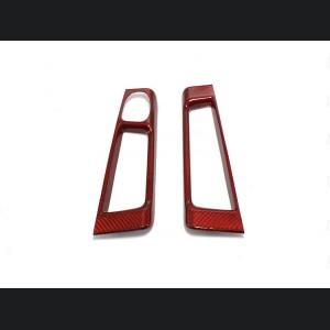 FIAT 500 Interior Door Handle Cover - Carbon Fiber - EU Model - Red Candy