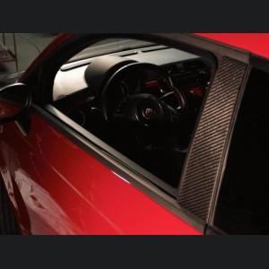 FIAT 500 Pillar Trim - Carbon Fiber - 6pc set