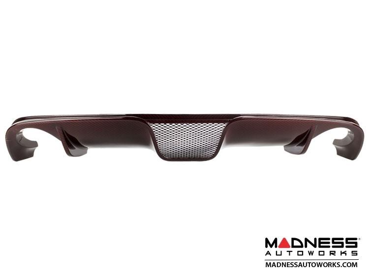FIAT 500 Rear Diffuser - Carbon Fiber - Dual Exit - Custom Red Candy