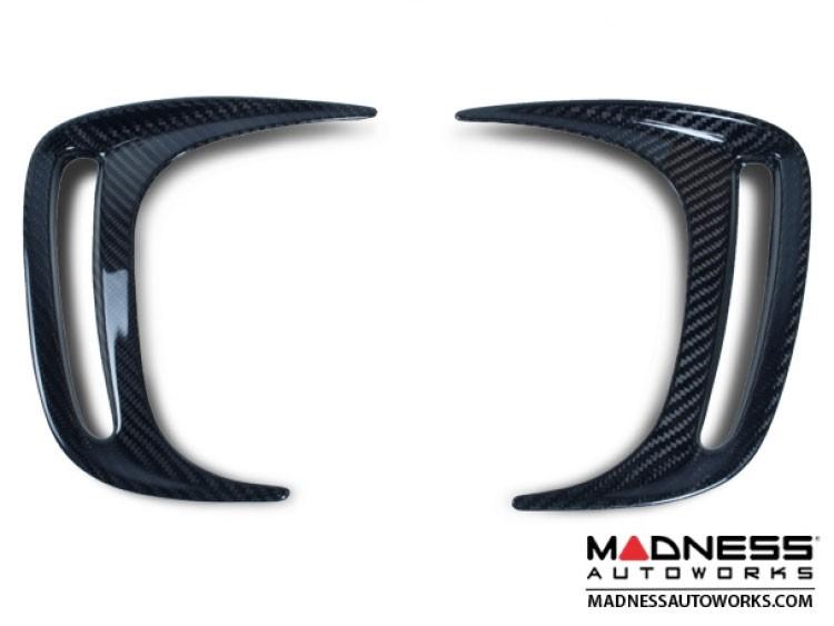 FIAT 500 Rear Bumper Side Duct Trim Piece Set - Carbon Fiber