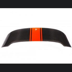 FIAT 500 Roof Spoiler - Carbon Fiber - Red Racing Stripe w/ White Scorpion