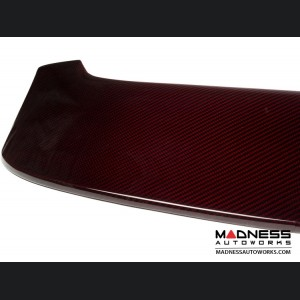 FIAT 500 Roof Spoiler - Carbon Fiber - ABARTH Style - Red Candy