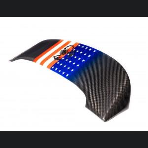 FIAT 500 Roof Spoiler - Carbon Fiber - American Flag w/ Black Scorpion