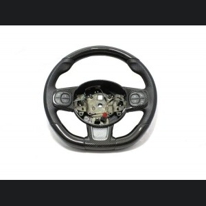 FIAT 500 ABARTH Steering Wheel Trim - Carbon Fiber - Blue Candy - 595 Edition (2016-on)