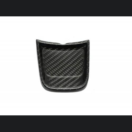 FIAT 500 ABARTH Steering Wheel Lower Center Trim Piece - Carbon Fiber - EU Model