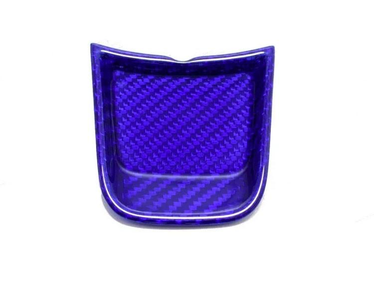 FIAT 500 ABARTH Steering Wheel Lower Center Trim Piece - Carbon Fiber - EU Model - Blue