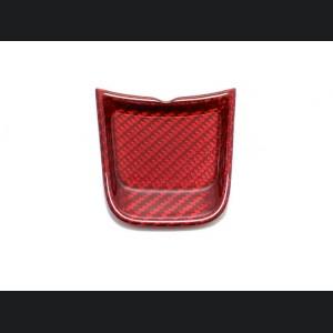 FIAT 500 ABARTH Steering Wheel Lower Center Trim Piece - Carbon Fiber - EU Model - Red