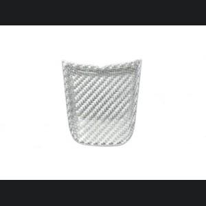 FIAT 500 ABARTH Steering Wheel Lower Center Trim Piece - Carbon Fiber - EU Model - White