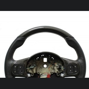 FIAT 500 ABARTH Upper Steering Wheel Trim - Carbon Fiber - EU Model -White