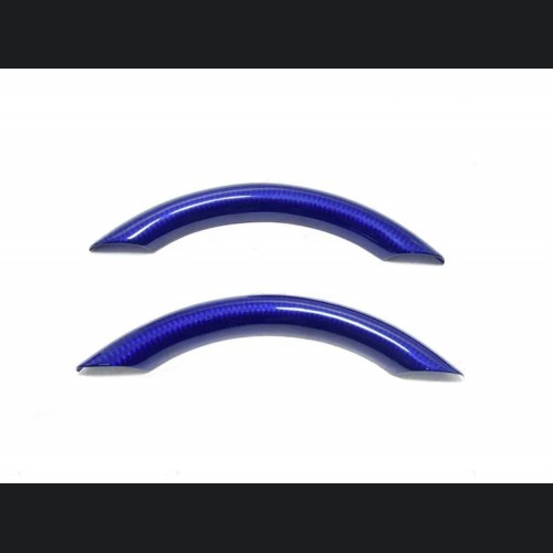 FIAT 500 ABARTH Upper Steering Wheel Trim - Carbon Fiber - EU Model - Blue