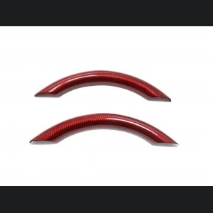 FIAT 500 ABARTH Upper Steering Wheel Trim - Carbon Fiber - EU Model - Red