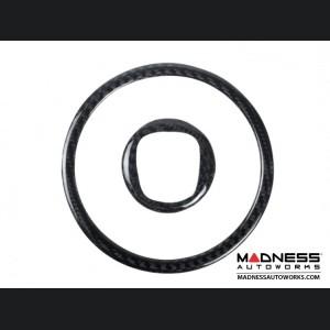 FIAT 500 Steering Wheel Center Trim Pieces (2) - Carbon Fiber