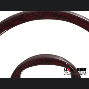 FIAT 500 Steering Wheel Trim Set (2 pieces) - Carbon Fiber - Red Candy