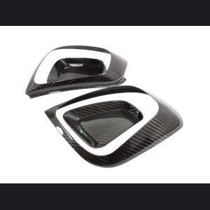 FIAT 500 Tail Light Frame Cover Kit in Carbon Fiber - European Model