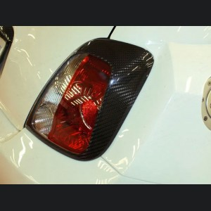 FIAT 500 Tail Light Trim Kit in Carbon Fiber - European Model