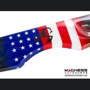 FIAT 500 Parcel Shelf - Carbon Fiber - American Flag w/ Black Scorpion