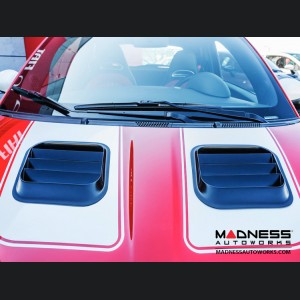 FIAT 500 Dual Extractor Hood Port System - Primed