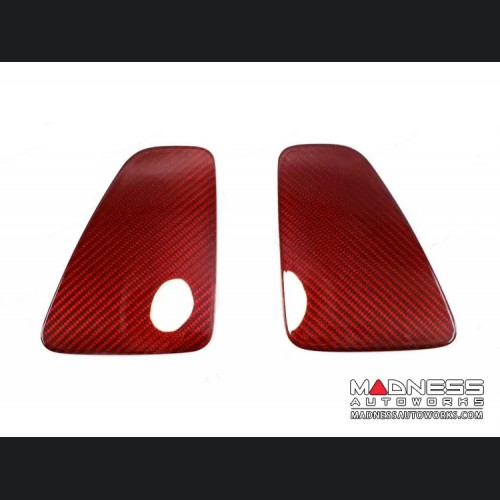 FIAT 500 Central Tail Light Trim Kit - Carbon Fiber - Red